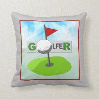 Golfer Decorative Pillow