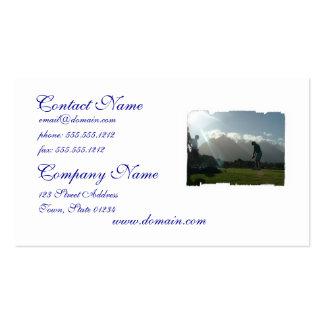 Golfer Design Business Cards