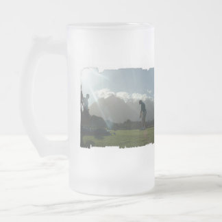 Golfer Design Frosted Beer Mug