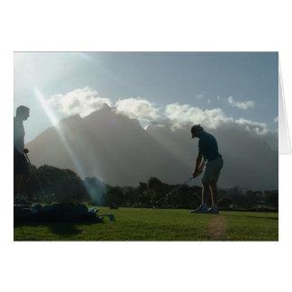 Golfer Design  Greeting Cards
