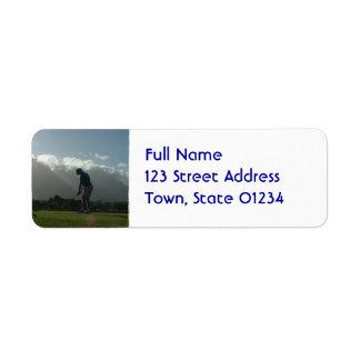 Golfer Design Mailing Labels