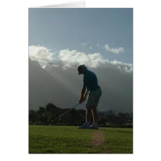Golfer Design  Note Card