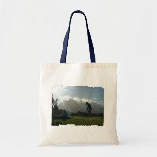 Golfer Design Small Tote Bag