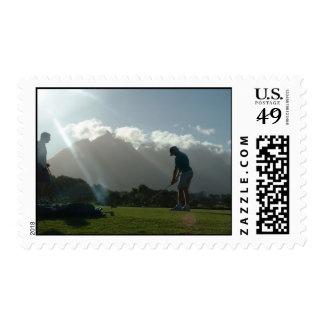 Golfer Design Stamp