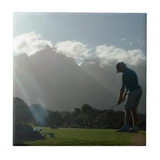 Golfer Design Tile