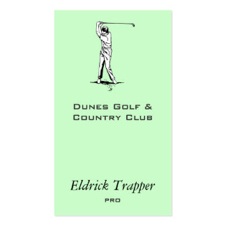 Golfer Double-Sided Standard Business Cards (Pack Of 100)