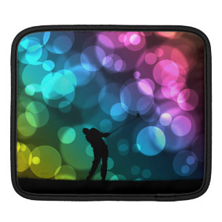 Golfer Driving Bokeh Graphic Sleeve For iPads