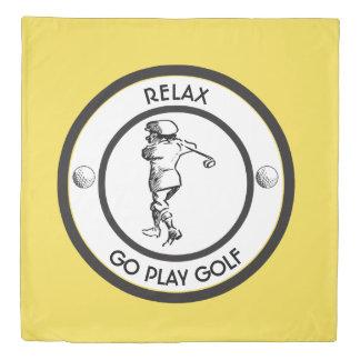 Golfer Duvet Cover