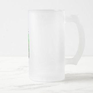 Golfer Frosted Glass Beer Mug
