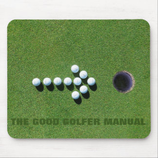 GOLFER FUNNY GIFTS, GOLF PUTTING GREEN FUN STAFF MOUSE PAD