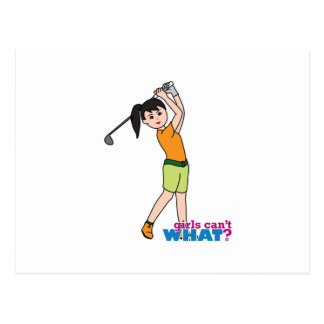 Golfer-girl 1 postcard
