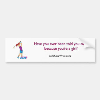 Golfer-girl 2 bumper sticker