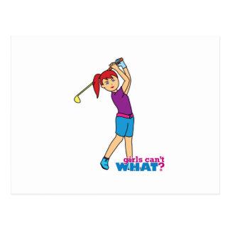 Golfer-girl 2 postcard