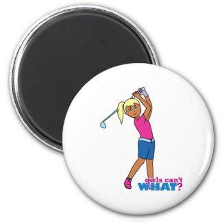 Golfer-girl 3 2 inch round magnet