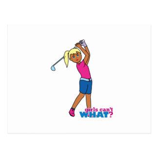 Golfer-girl 3 postcard