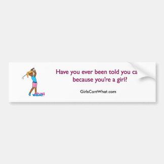 Golfer-girl 4 bumper sticker