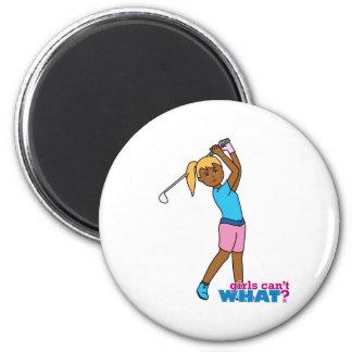Golfer-girl 4 2 inch round magnet