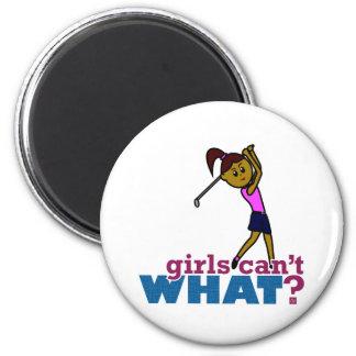 Golfer Girl Fridge Magnet