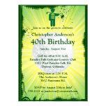 Golfer Golf Golfing 40th Birthday Invitation