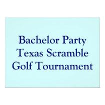 Golfer Golf Golfing  bachelor party. Card