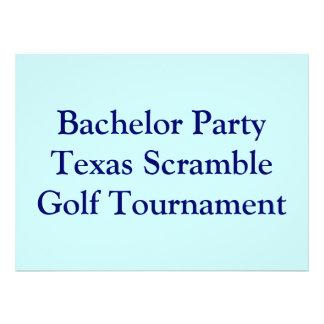 Golfer Golf Golfing bachelor party Invitations
