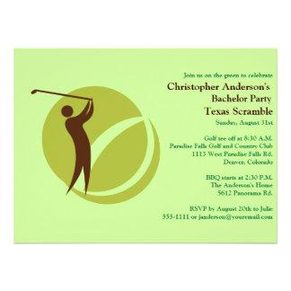 Golfer Golf Golfing bachelor party Custom Invites