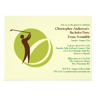 Golfer Golf Golfing bachelor party Personalized Invite