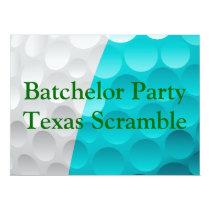 Golfer Golf Golfing Green bachelor party. Card