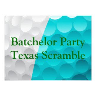 Golfer Golf Golfing Green bachelor party Custom Invitations