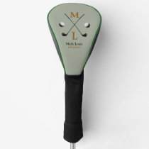golfer . golf-player monogram golf head cover