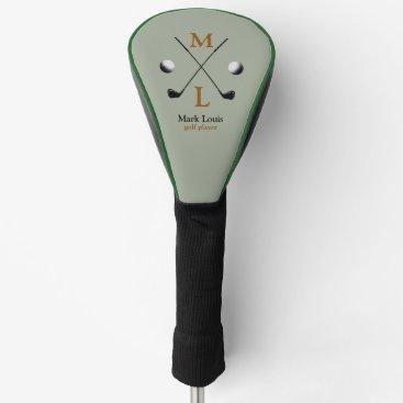 mixedworld golfer . golf-player monogram golf head cover