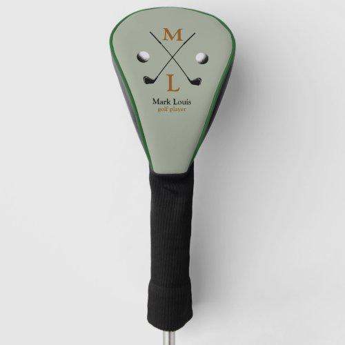golfer  golf_player monogram golf head cover