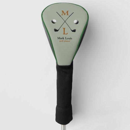 golfer . golf-player monogram golf head cover