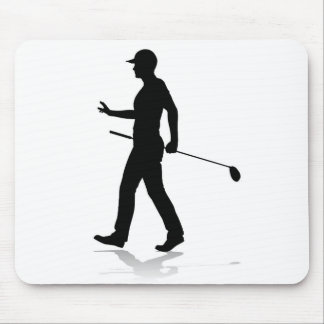 Golfer Golf Sports Person Silhouette Mouse Pad