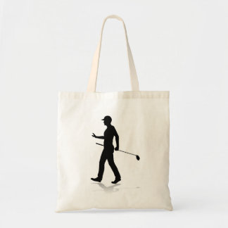 Golfer Golf Sports Person Silhouette Tote Bag