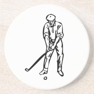 Golfer Golfing Beverage Coaster