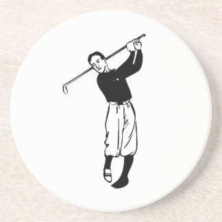 Golfer Golfing Coasters