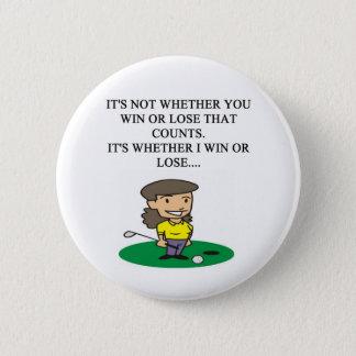 golfer golfing golf joke gifts t-shirts button
