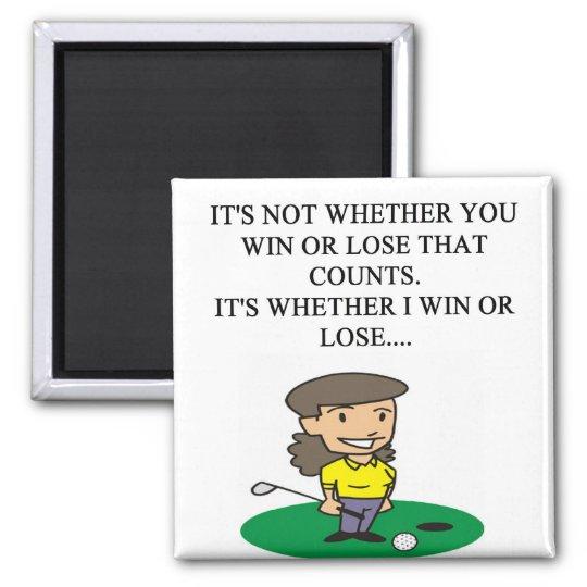 golfer golfing golf joke gifts t-shirts magnet