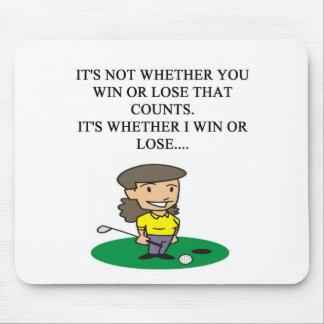 golfer golfing golf joke gifts t-shirts mouse mat