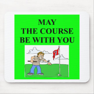 golfer golfing joke mouse pad
