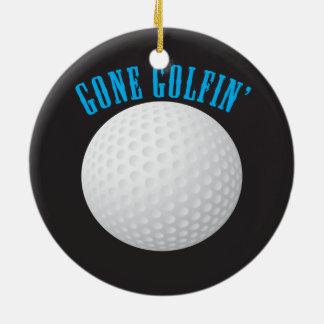 Golfer Gone Golfing Golf Ceramic Ornament