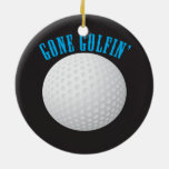 Golfer Gone Golfing Golf Double-Sided Ceramic Round Christmas Ornament