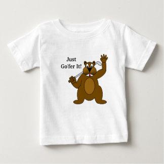 Golfer Gopher Just Go'fer It! Baby T-Shirt