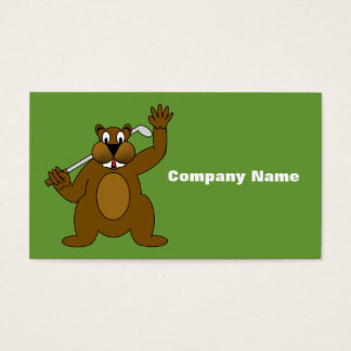 Golfer Gopher Just Go'fer It! Business Card