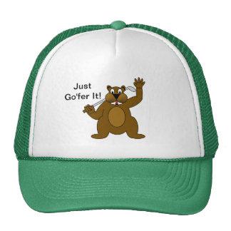 Golfer Gopher Just Go'fer It! Trucker Hat