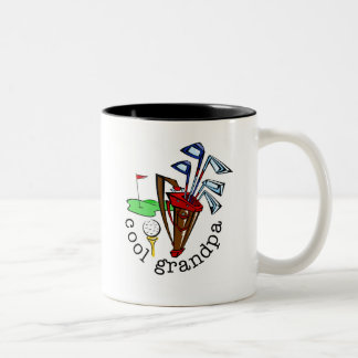 GOLFER GRANDPA Two-Tone COFFEE MUG