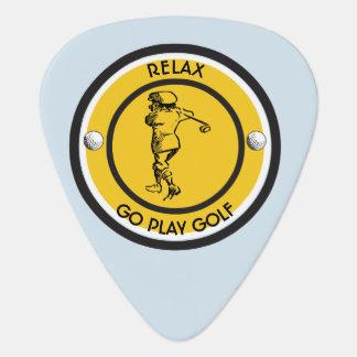 Golfer Guitar Pick