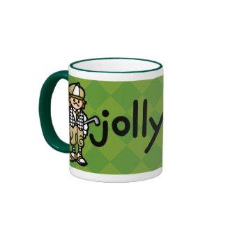 golfer gulp cup. ringer coffee mug