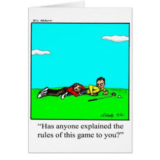 Golfer Humor Greeting Card